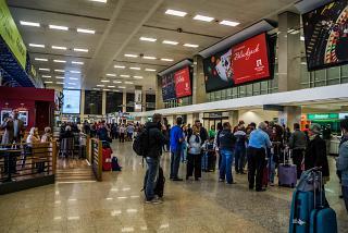 Зал прибытия в аэропорту Мальта