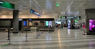 В зале выдачи багажа терминала Т1 аэропорта Милан Мальпенса