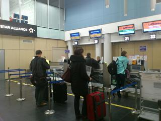 Check in for the flight Vilnius-Tallinn Estonian Air