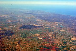 Mountainous coast of the Mediterranean sea in the vicinity of the city Defla in Algeria