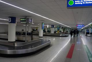 Baggage claim at the airport Catania Fontanarossa