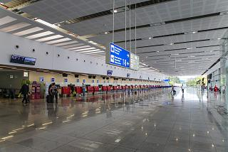 Hall check-in for flights in the new terminal of Burgas airport