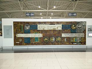Wall panels in Larnaca airport
