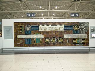 Настенное панно в аэропорту Ларнака