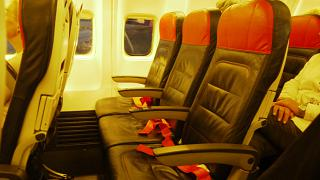 The passenger seats on the Boeing-737-800 Turkish airlines