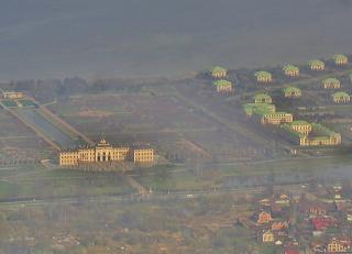 A view of the Constantine Palace in Strelna before landing in Pulkovo airport