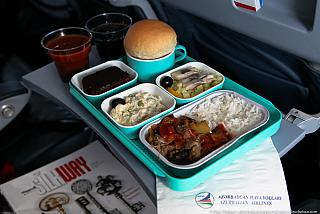 Food on the flight Kiev-Baku, Azerbaijan airlines AZAL