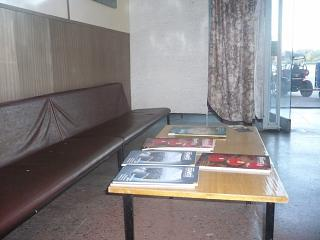 The waiting room before departure to Pskov airport