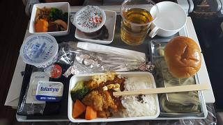 Питание FUK-SIN на A330-300 Singapore Airlines, Chicken Nanban + Japanese Cold Noodles