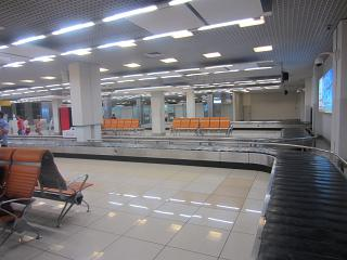 Baggage claim in Terminal B at the airport Koltsovo