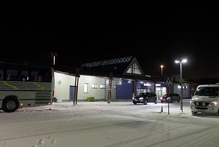 The passenger terminal of the airport Kajaani from the forecourt