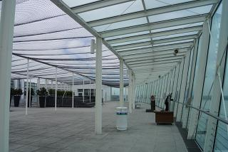 The observation deck in Terminal 2 of Munich airport