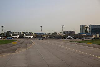 The airport complex Pulkovo-2, an adjoining platform