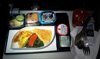 Flight meals are not the flight Shiraz-Istanbul Turkish airlines