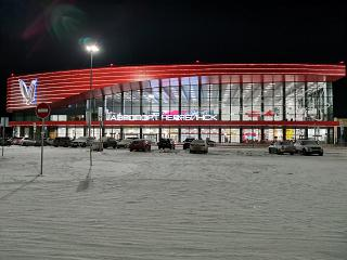 The passenger terminal of the airport Chelyabinsk Balandino