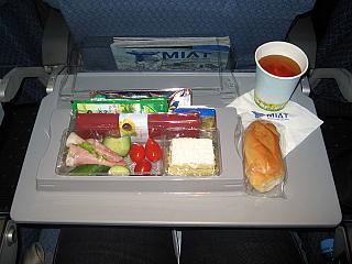 Питание на рейсе Москва-Берлин Монгольских авиалиний