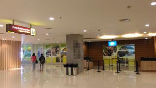 The gate in the domestic terminal of Denpasar airport Ngurah Rai