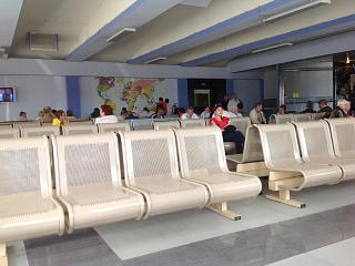 The waiting room in clean area Sokol airport in Magadan