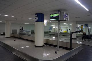The baggage carousel at the airport Catania Fontanarossa