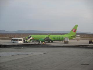 Боинг-737-800 авиакомпании S7 Airlines в аэропорту Чита Кадала