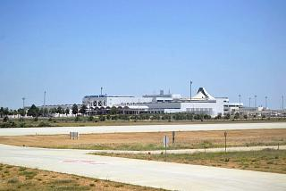 View from the airfield to Terminal 2 of Antalya airport
