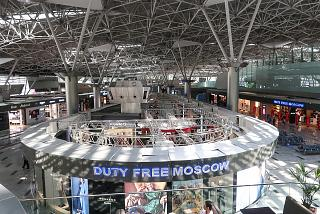 Duty Free shops in terminal A of Vnukovo airport