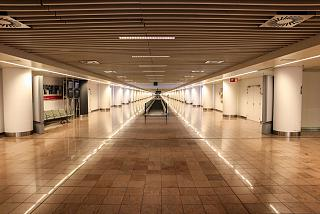 The transition in pier B at Brussels airport
