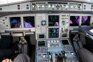 Dashboard on an Airbus A321neo
