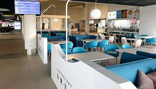 Food court in the new terminal of Khabarovsk airport