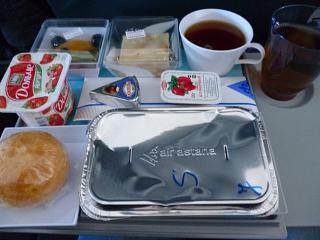 Питание на рейсе Аэрофлота Алматы-Москва