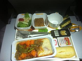 Food on the flight Montreal-Munich Lufthansa