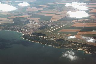 The town of Balchik and a military airfield next to him