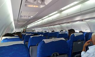 The passenger cabin of the aircraft An-158 to Cubana airlines