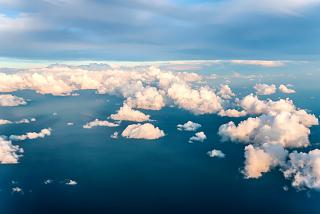 Evening clouds over the Black Sea