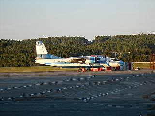 "Antonov an-24 RA-46682 of airline ""KrasAvia"" the airport Krasnoyarsk Emelyanovo"