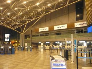 Reception of Finnair at Helsinki airport, Vantaa