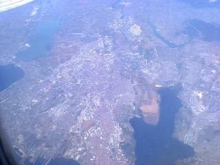 In flight over Istanbul