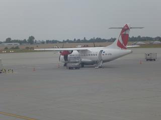 ATR 42-500 of Czech airlines at Prague airport