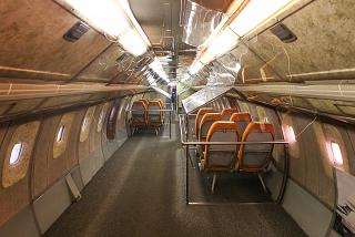The cabin of the Tu-144 in the Museum of technology in Sinsheim