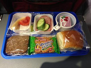 Food on the flight Krasnodar-Moscow Red Wings airlines