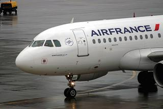 Airbus A319 Air France at the airport Sheremetyevo
