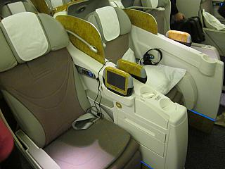 The business class Boeing-777-300 Emirates airline