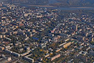 Flying over the centre of Kirov