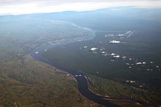 View of the Ob river in Western Siberia