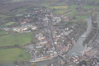 The town of Windsor in the outskirts of London