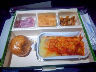 Halal meal on a flight of Aeroflot Moscow-Vladivostok