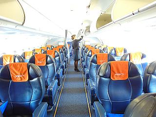 "Business class in the Airbus A321 of airline ""Aeroflot"""