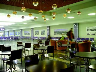 The waiting room at the airport of Omsk