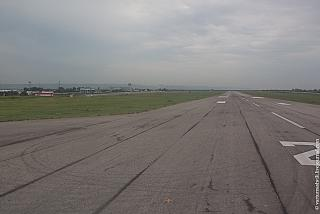 Runway of the airport of Grozny