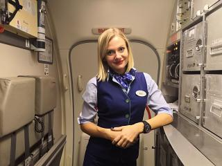 Stewardess airline Pegas Fly